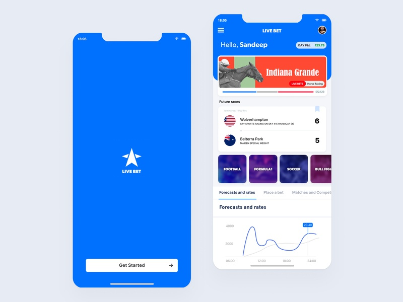 Live Bet - Horse Race and Sports betting mobile application #1 interactive design android andorid ios app interaction minimal ux design interface ui
