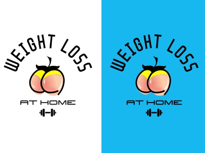 Logo Weight Loss peach marathon fitness sport logo