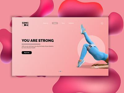 web design Fitness bands design webdesign web