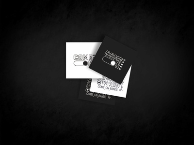 Business card fitness blackwhite qr insta business card illustration design logo