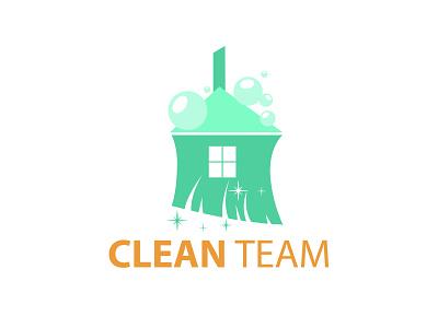 Logo Clean Team logo design vector illustration