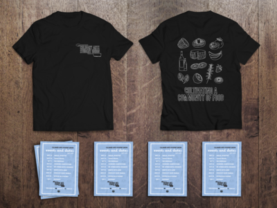 T-Shirt and flyer design for UF's Culinary Arts Student Union