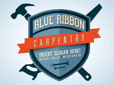 Blue Ribbon Carpentry Logo