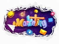Marketing Wall Illustration