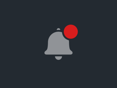 Notifications Icon with Boolean Badge