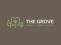 The grove family dentistry logo dark 2x