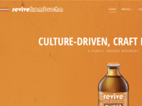 Revive Kombucha Website Redesign