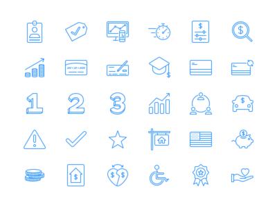 Finance App Icon Set
