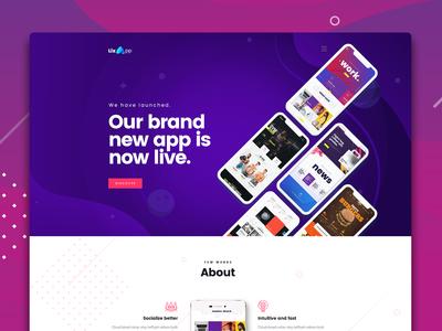 Lix App - PSD Template