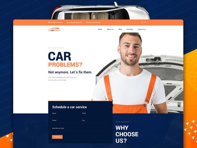 Lix Car Repair PSD Template