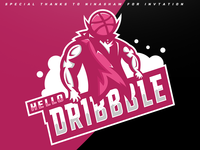 Dribbble mascot logo
