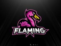 Flamingo mascot logo