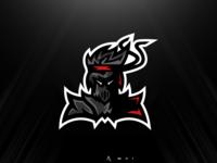 Ninja-knight mascot logo