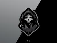 Scary mascot logo
