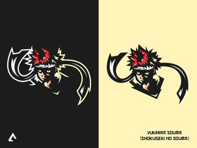 Yukihira Souma mascot logo
