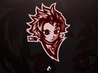 Tanjiro mascot logo