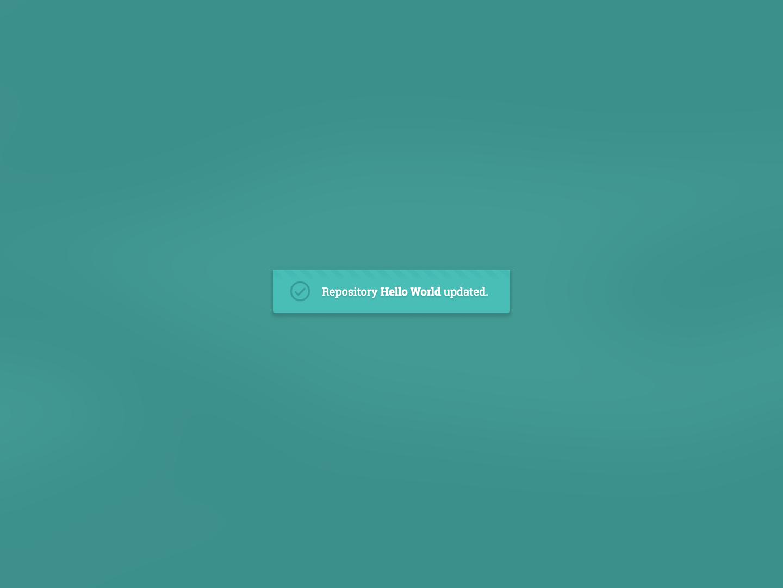 Success Notification design ui web