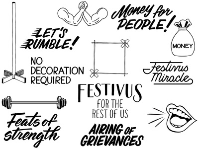 Festivus Art hand lettering lettering illustration brush script typography