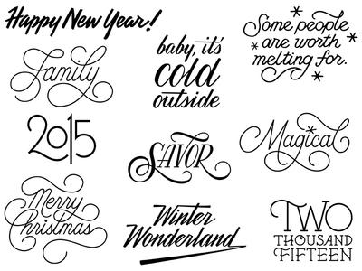 Over Winter Art typography hand lettering lettering script
