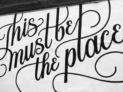 my first mural. sign painting mural hand lettering lettering