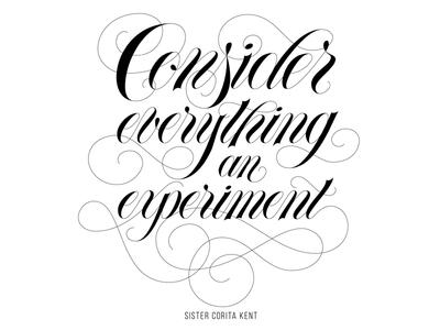 experimental. spencerian typography flourish script hand lettering