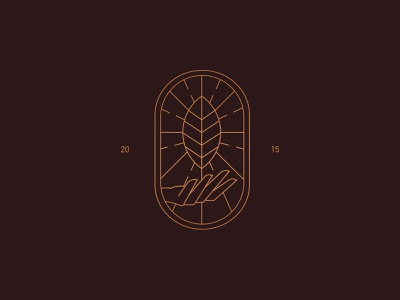 Symbol symbol leaf logo mark hand leaf