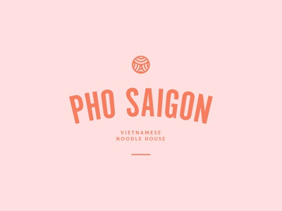 Pho Saigon Initial Mark mark brand logo pho