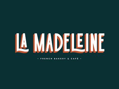 La Madeleine cafe type logo typogaphy