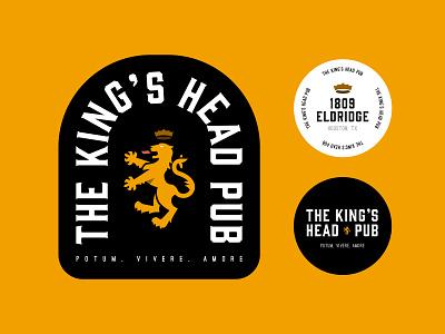 The King's Head logo banner bar pub badge seal