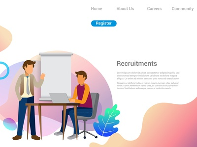 Design web templates of Business Recruiting