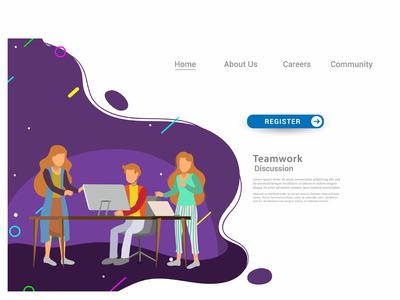 Design web templates for teamwork concept