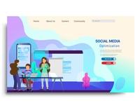 Social media marketing landing page template.