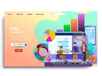 Modern flat design concept of web page