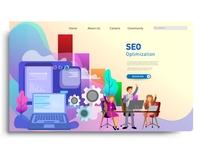 Modern flat design concepts for website design ui/ux