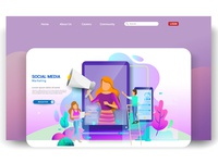 Modern flat design concepts for website design ui/ux web interface desktop layout business digital graphic design ux page marketing landing development ui internet homepage vector mobile illustration flat design