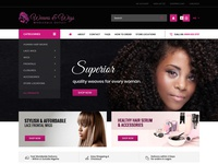 Ecommerce Website for Weaves and Wigs