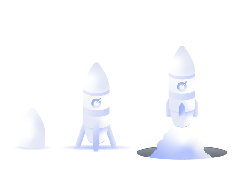 Rocket gradient illustrator cc illustration startup rocket space