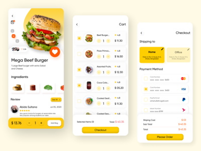 Food Delivery App checkout app page checkout process checkout page checkout cart app page cart app cart page food app food design food delivery service food delivery application food delivery app food delivery mobile app design mobile app mobile ui uxdesign ui design ux ui