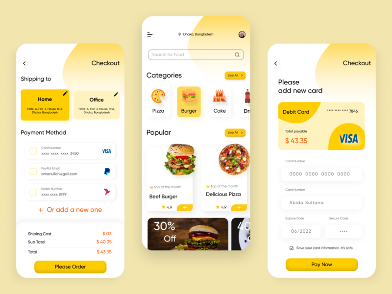 Food Delivery App app home page food app design food app design food delivery app concept food delivery application food delivery app app checkout page food app concept food app home page food apps food app ux design ux ui design ui