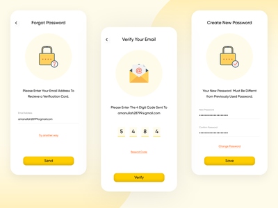 Forgot Password food delivery application app design food app food delivery app uxdesign uidesign ux ui forget app scrin forgot app page new password app page create new password verify verify your email forgot forgot password