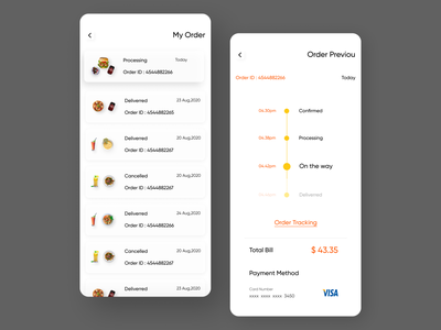 My Order & Order Priveou App Screen order previou app screen order previou app page order previou my order app screen my order app page my order webdesign food delivery application food delivery service food delivery food delivery app app design visual design ux design ui design ux ui