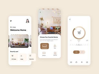 Smart Home App - UI Design dashboard design color iphone app clean ui clean design ui ux designer ui  ux design ux design ui design ios app designer ios application ios app design ios app app design app ui app smart home application smart home smart home app smart home app ui design
