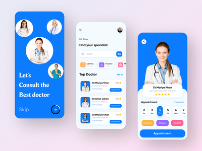 Doctor Appointment App Concept iphone app ios app design ios app font hospital app medicine app color clean app design clean ui uiux designer uiux design ux design ui design mobile ui mobile app app design medical app doctor app doctor appointment doctor appointment app