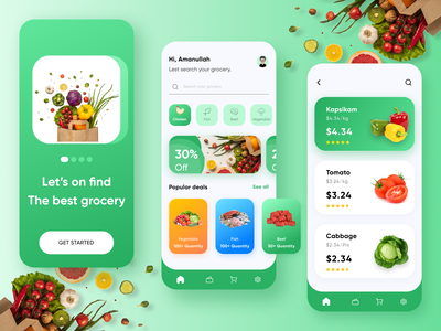 Grocery App - Visual Design iphone application mobile app design clean design super shop app delivery app food app food delivery app online store online shop grocery app grocery store grocery online store app app design ios app color clean ui ux ui ux design ui design