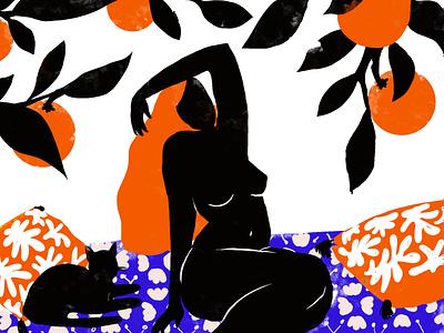 The Orange Woman oranges matisse patterns orange photoshop poetry woman feminine beauty illustration design