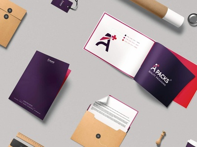 Aplus Packs - Quality Packaging - Logo - Copees 06 typography logo minimalism branding