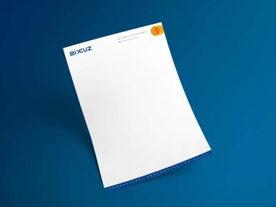 BIXCUZ - Letter Head - A Platform for Consumers & SME's entrepreneurship malaysia logo sme platform bixcuz minimal branding