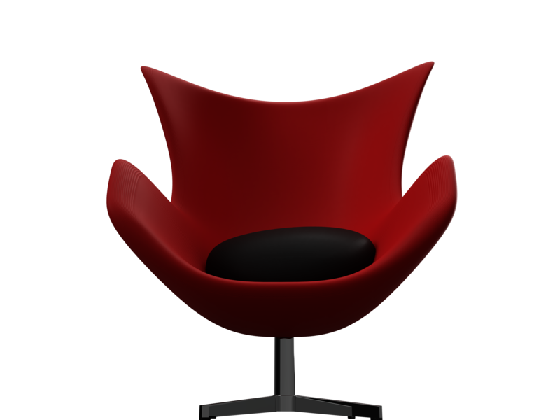 Egg Chair (Red-Black) concept first design ikbal pillow red chair egg product design autodesk fusion360 industrial design 3d design