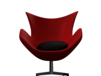 Egg Chair (Red-Black)