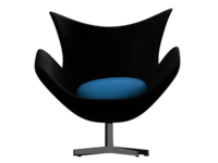 Egg Chair (Black-Hawaiian blue)